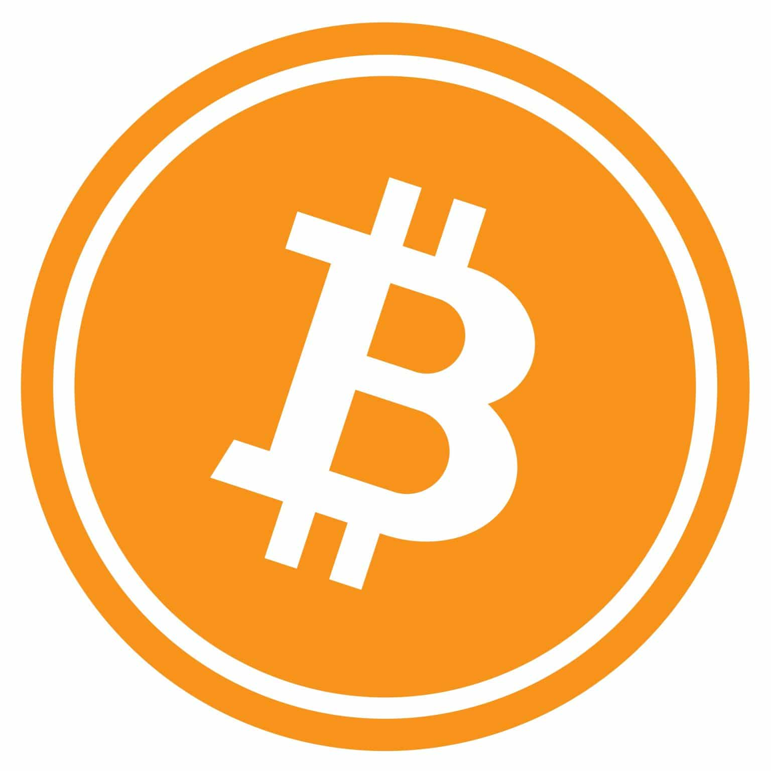 Bitcoin Logo - Orange Circle with Bitcoin Logo Inside