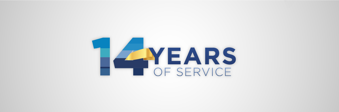 14 Years of Service Hero Banner