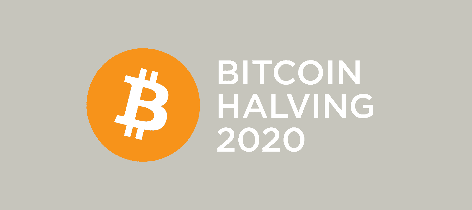 Bitcoin Logo with Text Bitcoin Halving 2020