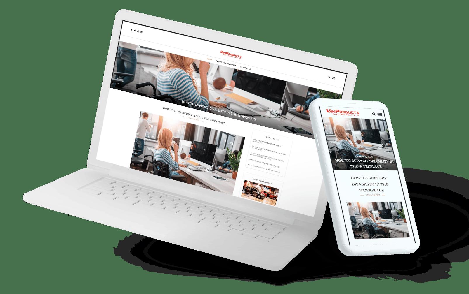 VPBlog Laptop and phone